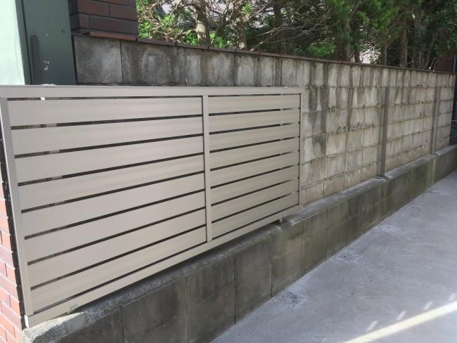 松戸市で一部目隠しにフェンスを取り付けに来ました。